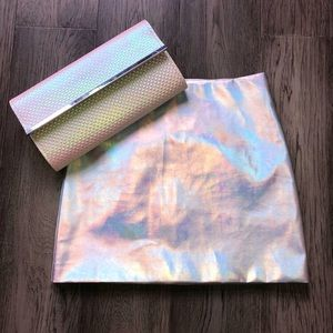 Reflective skirt and clutch set